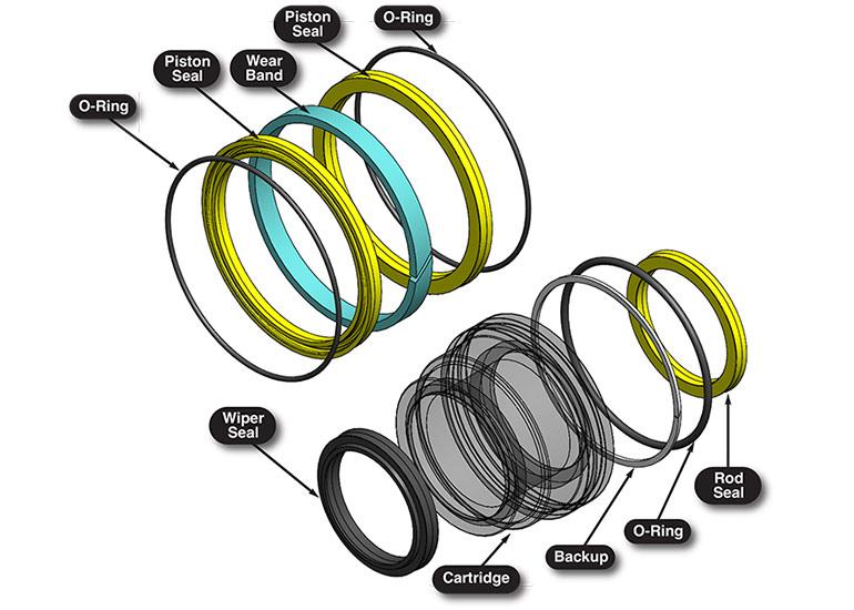 Peninsular Cylinder hydraulic cylinder seals renderings